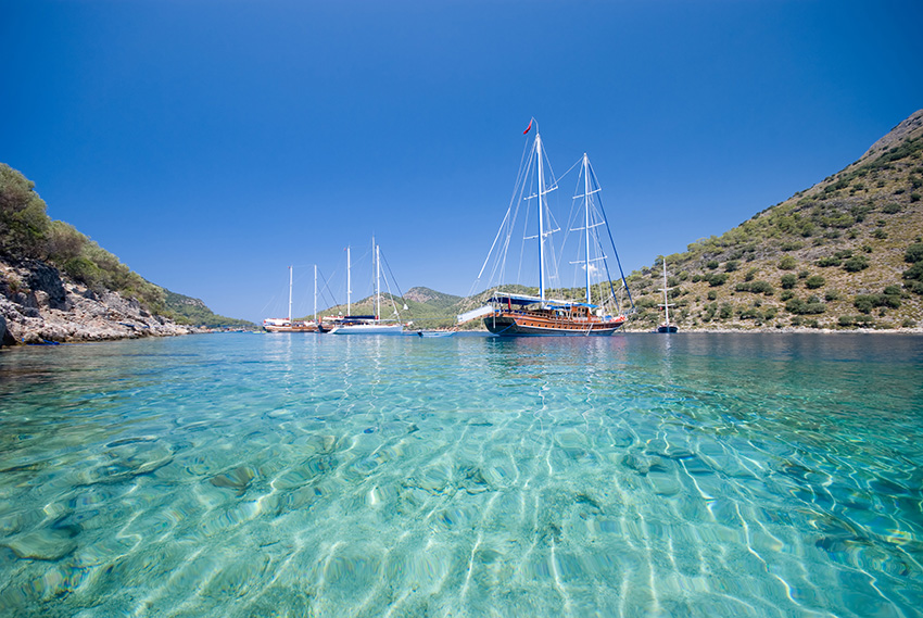 Boats On The Mediterranean Sea