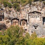 Turkish  Lycian Tombs  - Ancient Necropolis In The Mountains, Boat Holidays
