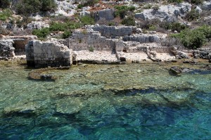 Sunken Lycian City on the Kekova Island, Turkey