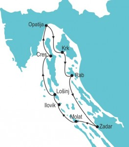 Kvarner Bay Island Hopping Tour - Route
