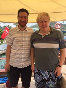 Boris Johnson with Ahmet Guler, Director of Gulet Escapes
