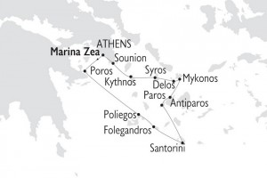 Jewels of the Cyclades - Map